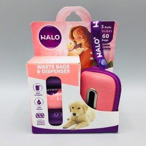 HALO Pink & Purple Waste Bags & Dispenser